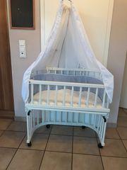 Babybay Bett mit Himmel Nestchen