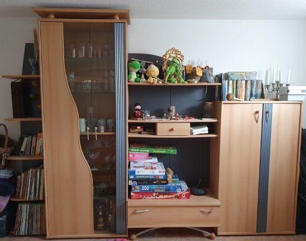 Wohnzimmer Jugendzimmer Schrankwand