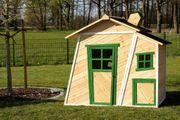 Kinderspielhaus Alina natur grün NEU