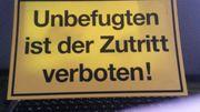 Bauschild Zutritt verboten