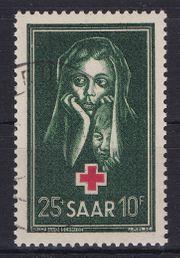 Briefmarke Saarland 1951 - Rotes Kreuz