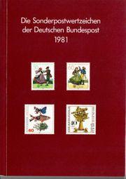 Deutsche Bundespost-Jahrbuch 1981 alle Marken
