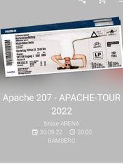 Apache 207 Konzertkarte Bamberg am