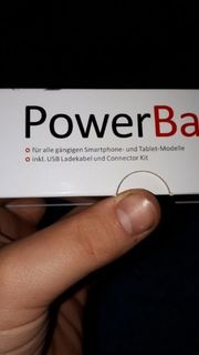 PowerBank Silber Schwarz