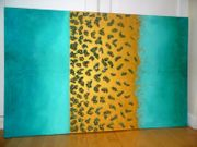 Großes Bild Gemälde gold Struktur