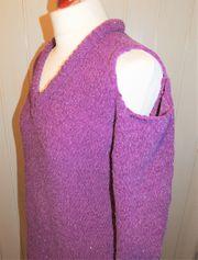 Chenille-Pullover in lila silber von