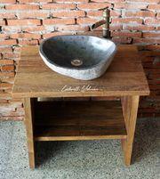 Waschtisch Unterschrank Kommode Holz Teak