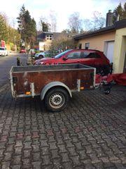Auto Hänger Einachsanhänger Firma Bender