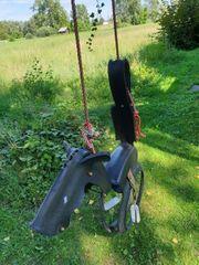Pferde-Reifenschaukel mit Doppelhaken