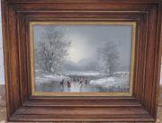 Winter-Bild handgemalt von Böckmann
