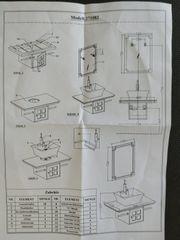 NEUER Waschtisch Bad komplett mit