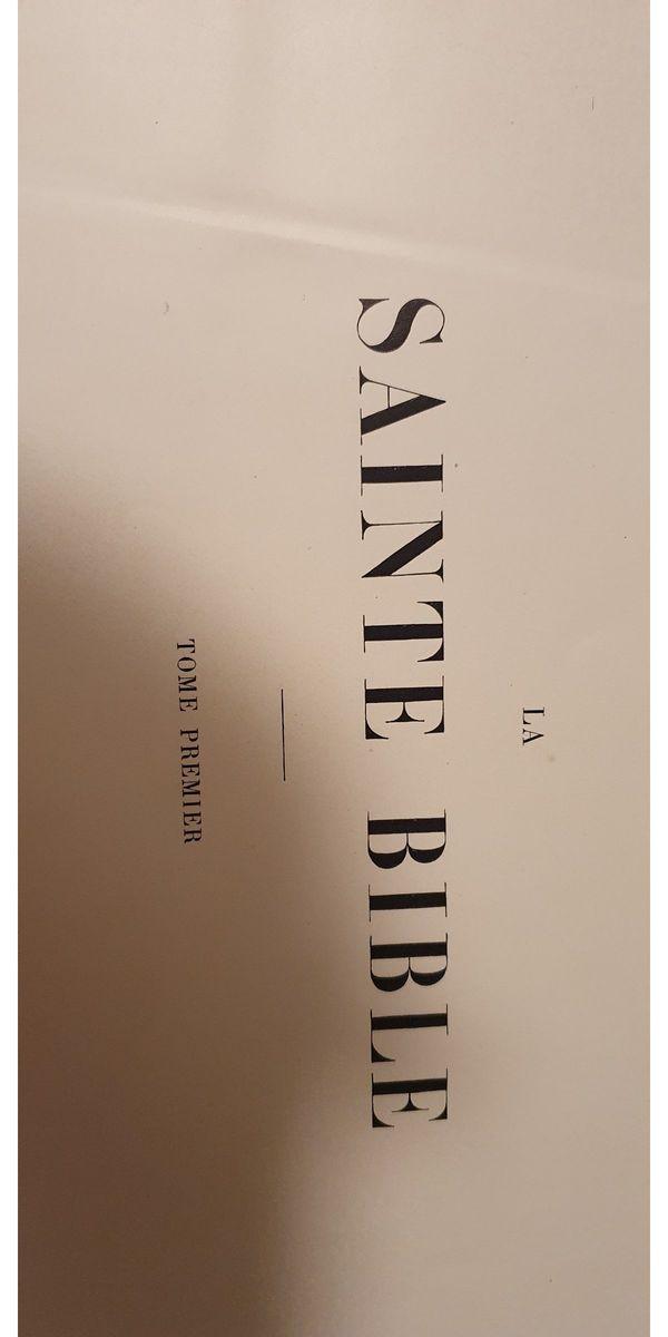 antiquarische französisch sprachige Doré-Bibeln (Teil 1 und 2) wie im The Met