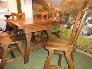 Tisch und 6 Stühle Eiche