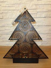 Teelichthalter Windlichthalter Weihnachten Tannebaum Laterne