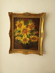 Ölbild Sonnenblumen