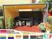 Pavillon Laube Schiebedach neu personalisierte