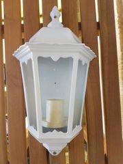 Aussenlampe Wandlampe weiß
