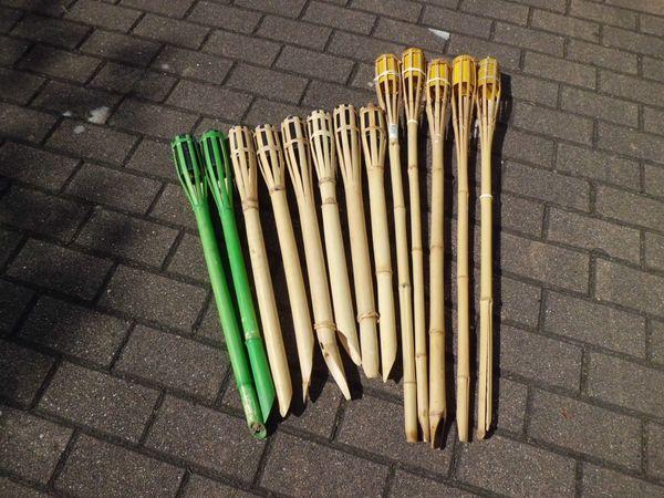 Fackeln Petroleumfackeln Gartenfackeln Bambusfackel