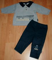 SET - Sweat-Shirt Hose - Größe 74 - Matrosenkragen