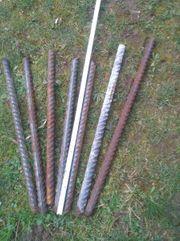 7 Baustahl Reste 50-70 cm