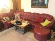 Leder-Couch neuwertig Wohnlandschaft