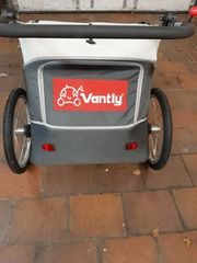 Vantly Fahrradanhänger für zwei Kinder