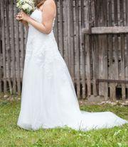 Brautkleid Hochzeitskleid elfenbein Größe 42
