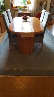 Esszimmertisch 8 Stühle Teppich