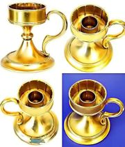 KERZENSTÄNDER - vergoldet - TEELICHTHALTER - H 87cm-Ø56cm-Ø81cm