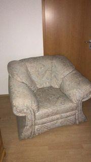 Verkaufe zwei stoffbezogene Sessel der