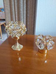 2 Wunderschöne Gold Crystal Weinfurter