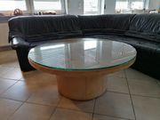 Tisch aus echtem Leder mit