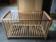 Gitterbett mit Schlupfsprossen 120x60 Kiefermassivholz