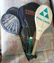 5 Schläger Tennis Squash Badminton