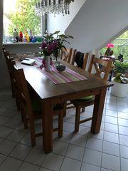 Esstisch mit 6 Stühlen Eiche
