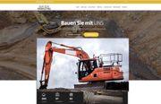 Homepage Webseite für Bau Erdaushub