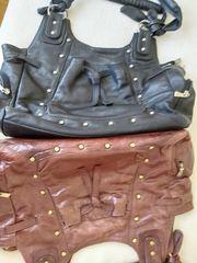 Leder Handtaschen 1 schwarz und