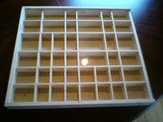 Komplett 7 Holzsetzkästen mit Plastikschiebetür