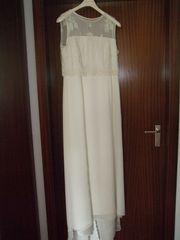 Brautkleid cremefarben ärmellos Gr 44