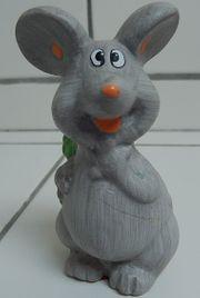 kleine Maus Glücksmaus mit Kleeblatt