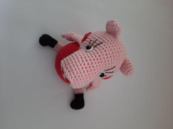 Wutz Pig Rosa Schwein gehäkelt