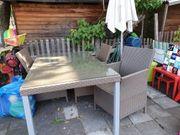 Garten Rattan Esstisch