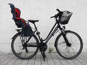 Fahrrad KOMPLETT SET mit Kindersitz