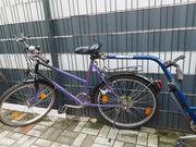 Fahrrad mit Tandem Kind