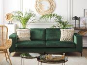 3-Sitzer Sofa Samtstoff grün VADSTENA neu