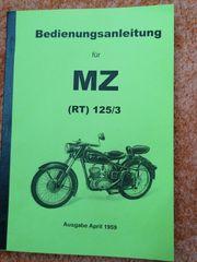 Bedienungsanleitung MZ RT 125 3