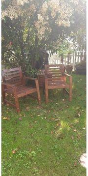 2 Gartenstühle Äpplarö Armlehnstuhl Ikea