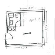 Möbiliertes 1 Zimmer Appartement