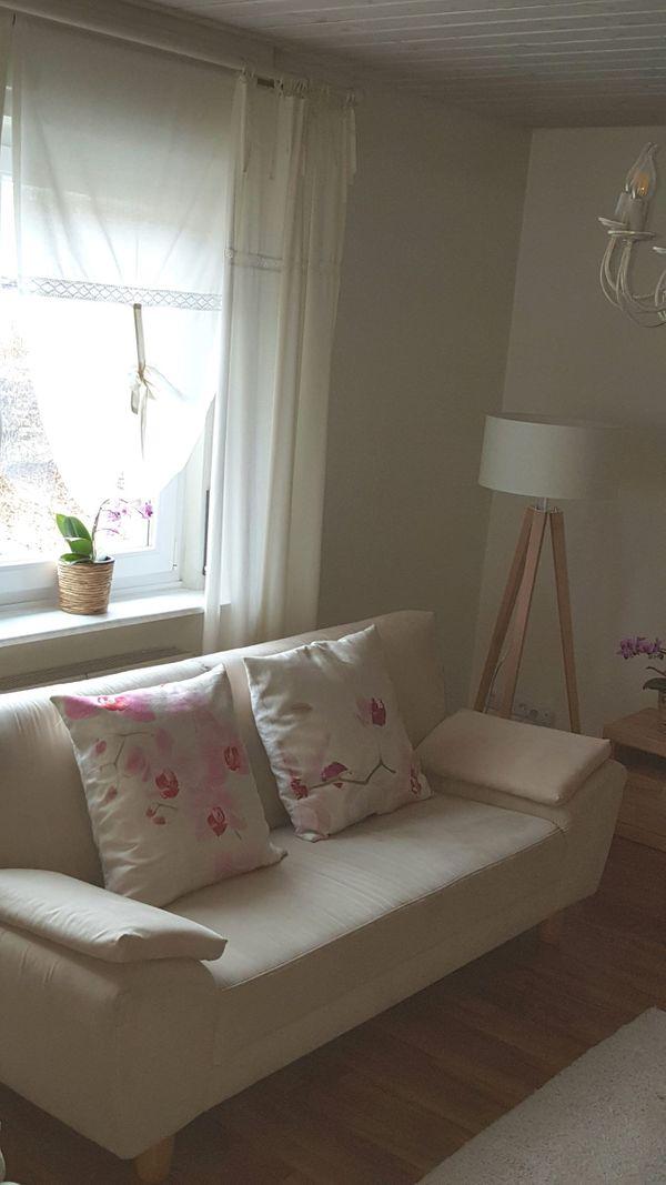 Sofagarnitur 3 2 1 Sitzer Farbe Beige Echtholzfüsse In Albstadt