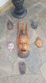 Afrikanische Masken Deko